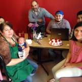 The distinguished family of La Cocina Real. They welcomed us in to their restaurant during their daughters birthday celebration. The baby is smiling because he just met his first blogger. A very special moment.