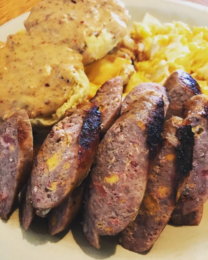 Bacon Cheddar Bratwurst from Keota, Iowa!