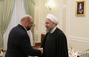 Rouhani & Martin Schulz