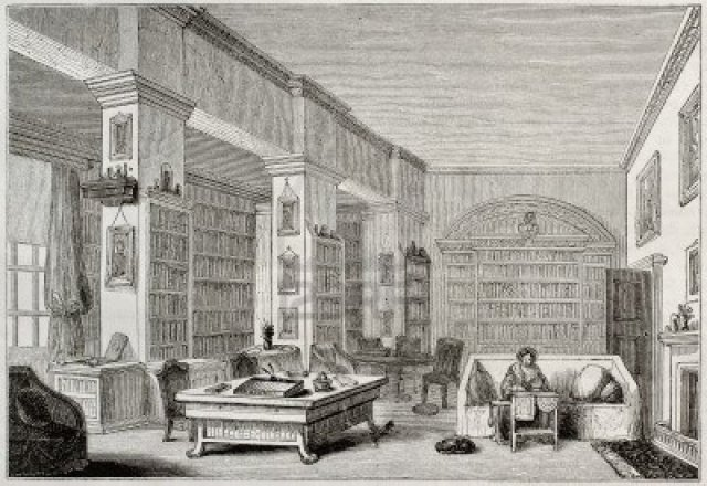 Library in Edgeworthstown House