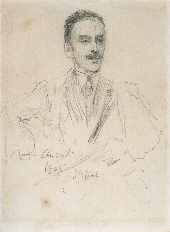 Hugh Lane pencil portrait 1905