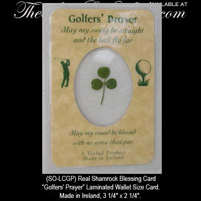 Irish Golf Shamrock Blessing Card Irish Golf Gifts