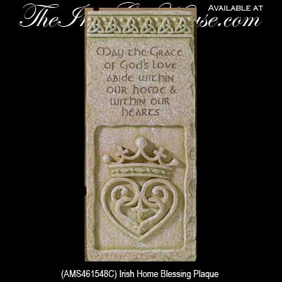 Irish Gifts Irish Blessing Plaque With Celtic Trinity Knots
