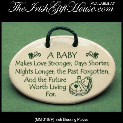 Irish Baby Blessing Plaque Irish Baby Gifts