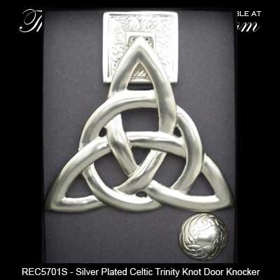 Celtic Door Knocker Trinity Knot Silver