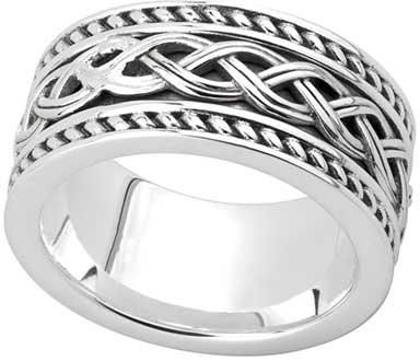 Sterling Silver Celtic Wedding Bands