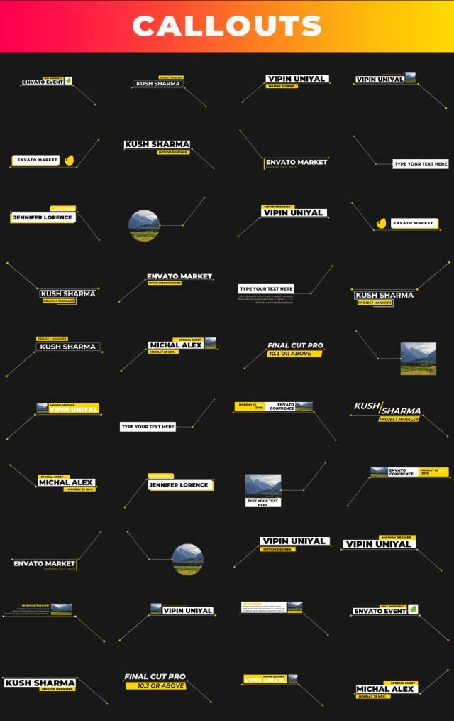 FCPX Mega Graphics Pack - 48