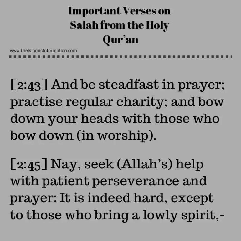 quran verses about salah