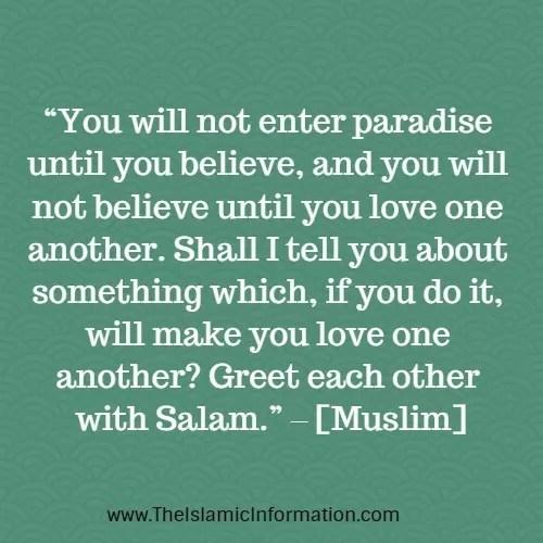 saying salam hadith muslim