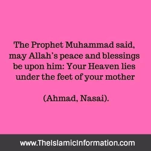 heaven under mother feet hadith