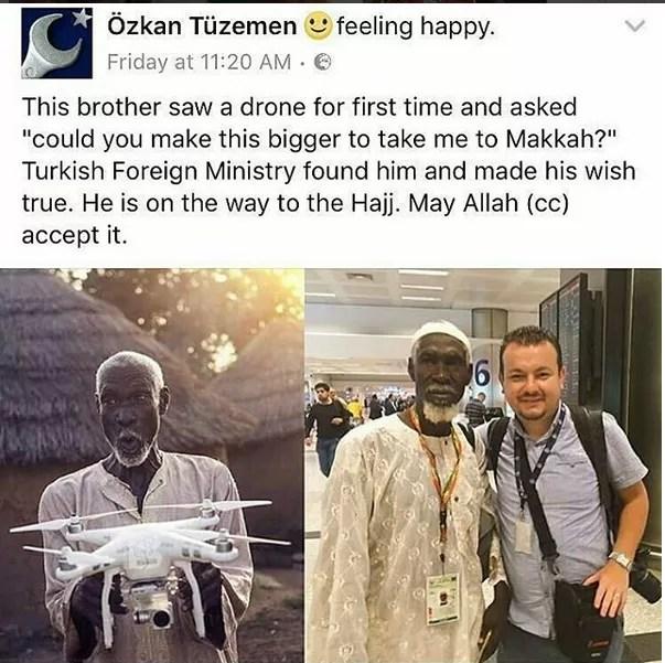 drone Al-Hassan Abdullah turkey welcome