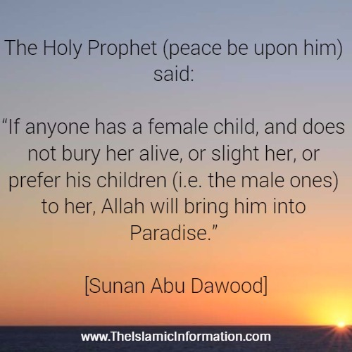 daughter child blessing hadith