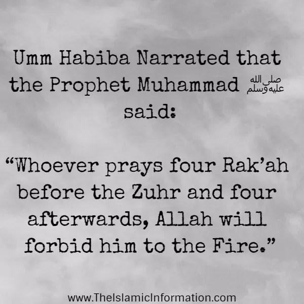 hadith hell praying