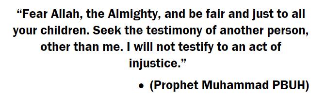 muhammad hadith treating people