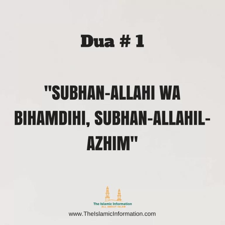 SUBHAN-ALLAHI WA BIHAMDIHI, SUBHAN-ALLAHIL-AZHIM