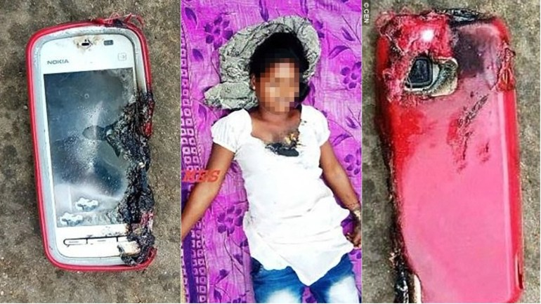 Indian Girls Phone Explodes When She Was On Call