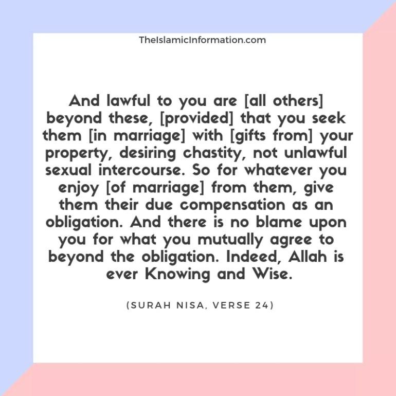 Nikah Mutah Temporary Marriage Quran