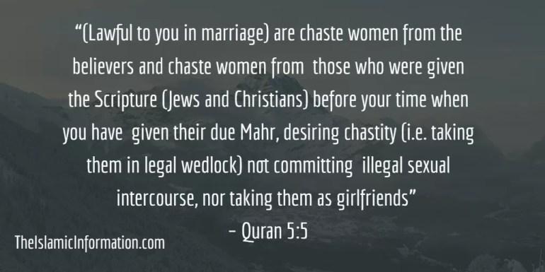 muslim marry jew christian woman quran