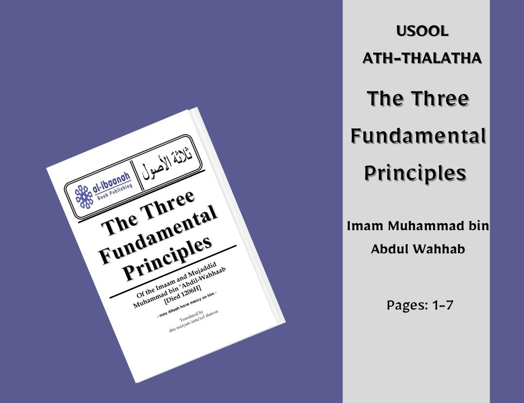 The Three Fundamental Principles (pages 1-7)