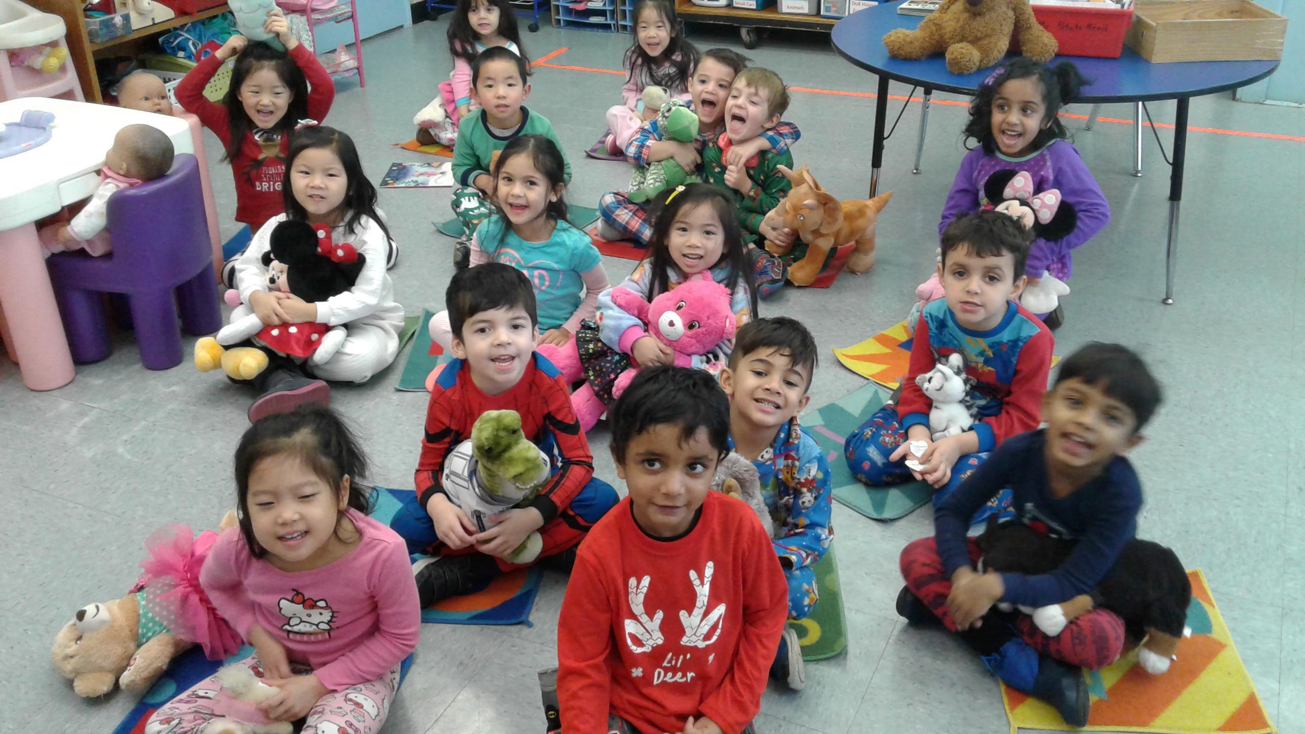 Preschoolers Enjoy Pajama Day