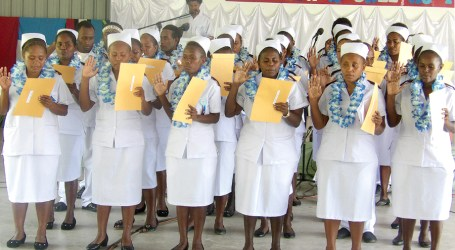 Newly Registered Nurses from Atoifi awarded