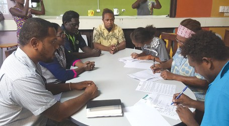 Seven Honiara City Council youth groups awarded grants under Oxfam's 'Statim Faia' Project.