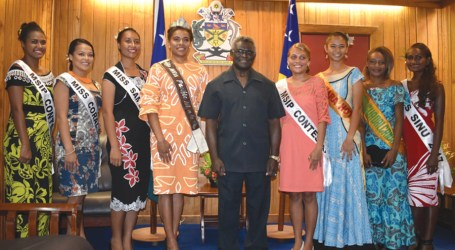 Miss Pacific Islands and MSIP 2017 visit PMO and MWCYFA