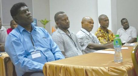 Education authorities and school leaders on LEAP mentors workshop