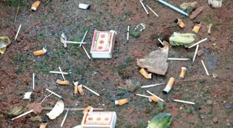 Cigarette butts Gizo beauty aside