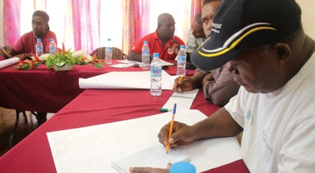 Communication training for Red Cross volunteers in Auki