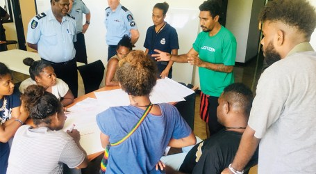 Youth in East Honiara attend crime prevention workshop