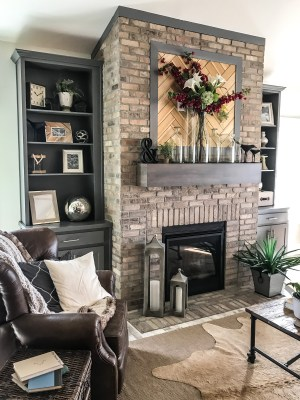 Brick-fireplace-with-floating-mantle