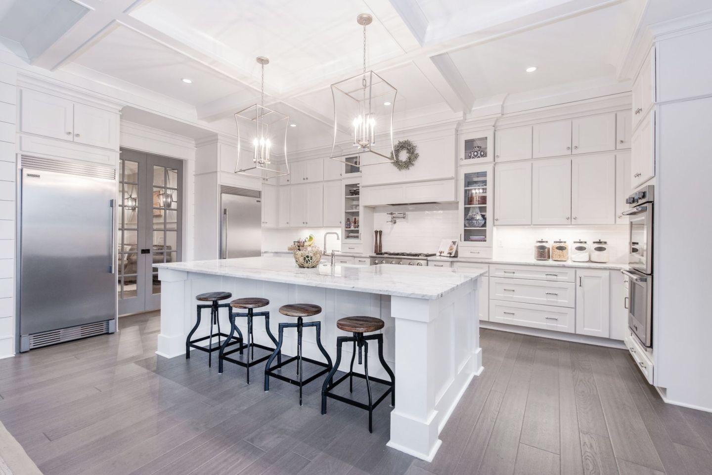 white kitchen cabinet details