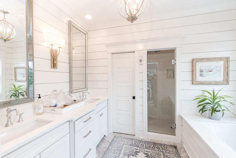 white bathroom details