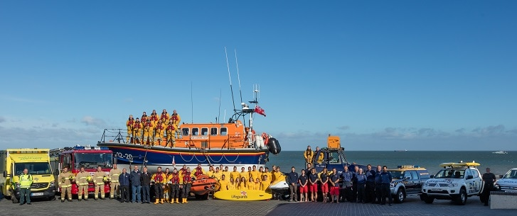 Thanet's Emergency Services line-up (RNLI Margate)