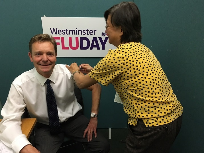 CM at Westminster Flu Day Oct17