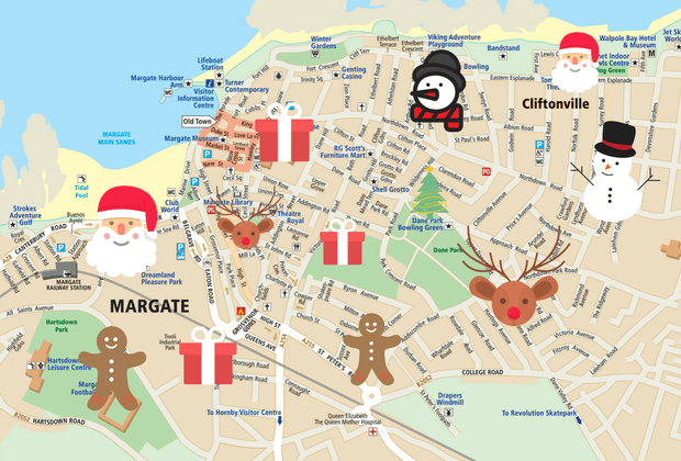 Santa in Margate