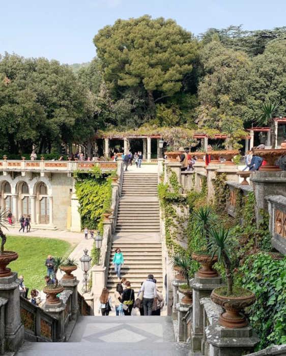 Miramare Castle in Trieste: the garden stairs