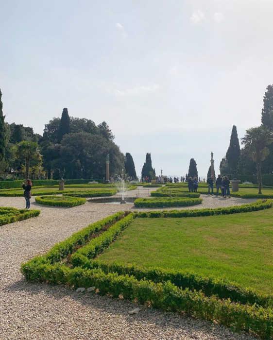 Miramare Castle in Trieste: garden