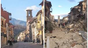 Before and after, Amatrice