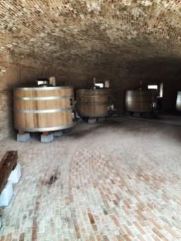 Inside the 'spiral' cellar
