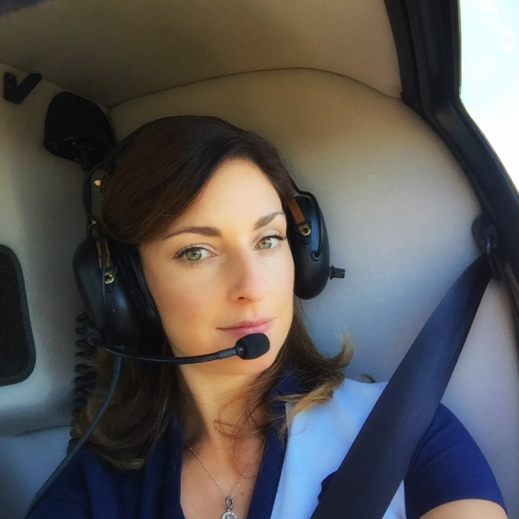 Helicopter tour selfie