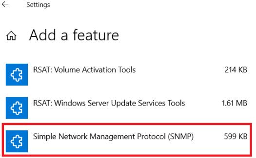 install snmp windows 10