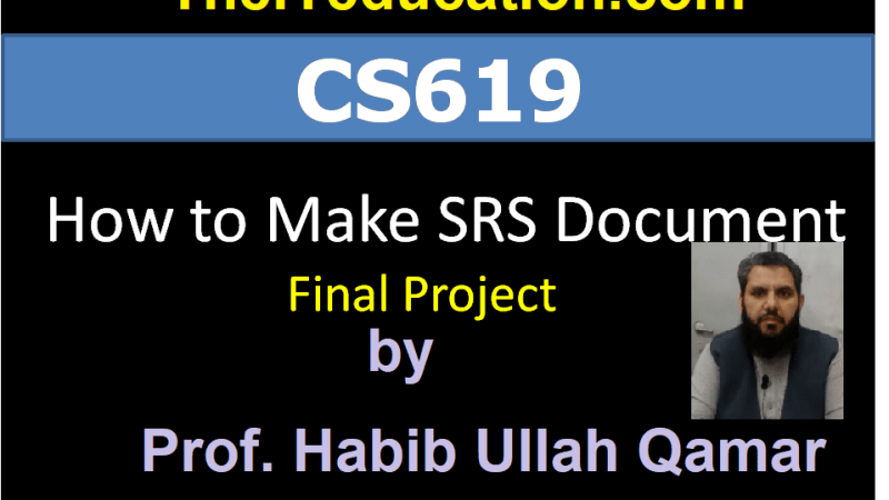 cs619 final project deliverable How to Prepare or Make SRS Document