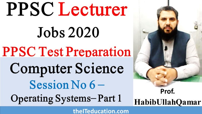 PPSC Lecturer computer Science Preparation
