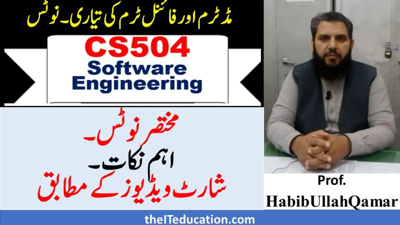 cs504 short notes pdf with short videos lectures