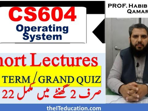 cs604 midterm and grand quiz prepration with short lectures and short notes