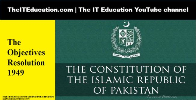 Introduction With the Constitution of Pakistan & Objective Resolution.