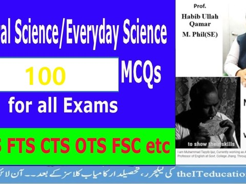 Election officer Test prepratio 100 Everyday Science Mcqs with answers for PPSC Test Preparations