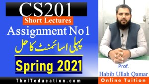 cs201 Assignment 1 Solution Guideline - Spring 2021